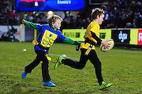 Half-time tag rugby action. Aviva Premiership match, between Bath Rugby and Newcastle Falcons on March 18, 2016 at the Recreation Ground in Bath, England. Photo by: Patrick Khachfe / Onside Images