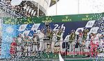 Winners Romain Dumas (FRA) / Neel Jani (CHE) / Marc Lieb (DEU) driving the #2 LMP1 Porsche Team (DEU) Porsche 919 Hybrid  Second Stephane Sarrazin (FRA) / Mike Conway (GBR) / Kamui Kobayashi (JPN) driving the LMP1 Toyota Gazzo Racing Toyota TS050 - Hybrid6 Third Lucas Di Grassi (BRA) / Loic Duval (FRA) / Oliver Jarvis (GBR) driving the LMP1 Audi Sport Team Joest Audi R18 Hybrid LMP1 Nicolas Prost (FRA) / Nelson Piquet Jr (BRA) / Nick Heidfeld (DEU) driving the LMP1 Rebellion Racing Rebellion R-One - AER 24hr Le Mans 18th June 2016