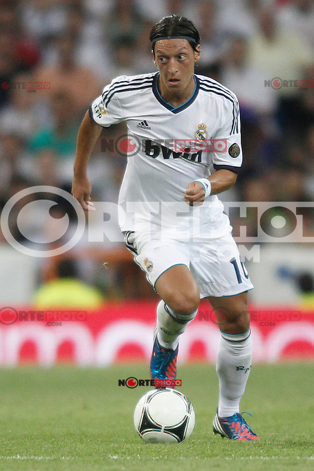 Real Madrid's  &Ouml;zil during Super Copa of Spain on Agost 29th 2012...Photo:  (ALTERPHOTOS/Ricky) Super Cup match. August 29, 2012. <br />