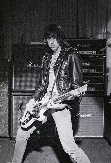 Johnny Ramone of the Ramones performing at Ole Man Rivers in September 1982 in New Orleans, Louisiana. USA Camera: Olympus OM2 / Film: Kodak Professional Tri-X 400 Black and White Negative Film
