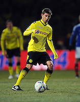 FUSSBALL   DFB POKAL   SAISON 2011/2012   VIERTELFINALE Holstein Kiel - Borussia Dortmund                          07.02.2012 Moritz Leitner (Borussia Dortmund)