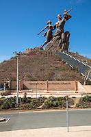 African Renaissance Monument, Dakar, Senegal.  Dedicated April 4, 2010.  Sculptor, Pierre Goudiaby.