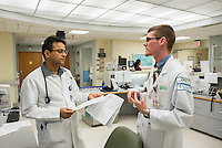 St. Mary's Medical Center. Kishore Kumar, M.D., left, 20120523001, Jonathan Galli, class of 2014.