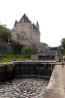 Chateau Laurier beside Rideau Lock Ottawa
