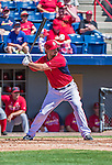9 March 2014: Washington Nationals first baseman Brock Peterson in action during a Spring Training game against the St. Louis Cardinals at Space Coast Stadium in Viera, Florida. The Nationals defeated the Cardinals 11-1 in Grapefruit League play. Mandatory Credit: Ed Wolfstein Photo *** RAW (NEF) Image File Available ***