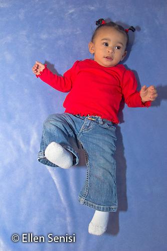 MR / Schenectady, NY. Portrait of infant (girl, 11 months, African American & Caucasian). MR: Dal4. ID: AL-HD. © Ellen B. Senisi (Ellen B. Senisi)