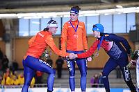 SPEEDSKATING: BERLIN: Sportforum Berlin, 28-01-2017, ISU World Cup, Podium 1500m Ladies A Division, Marrit Leenstra (NED), Ireen Wüst (NED), Martina  Sáblíková (CZE), ©photo Martin de Jong