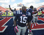 Ole Miss linebacker Joel Kight (15) vs. Auburn at Vaught-Hemingway Stadium in Oxford, Miss. on Saturday, October 13, 2012. Mississippi won 41-20.