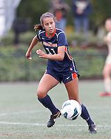 Pepperdine University forward Callie Payetta (11) at midfield. Pepperdine University defeated Boston College,1-0, at Soldiers Field Soccer Stadium, on September 29, 2012.