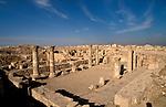 Jordan, Amman. Remains of a Byzantine Church from the 6th century on Citadel Hill&amp;#xA;<br />
