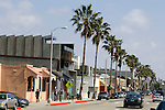 People walking along Abbot Kinney Blvd. in Venice, California