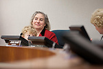 The son of re-elected councilmember, Megan Satterlee, sits patiently as his mom participates in a council meeting Nov. 4.