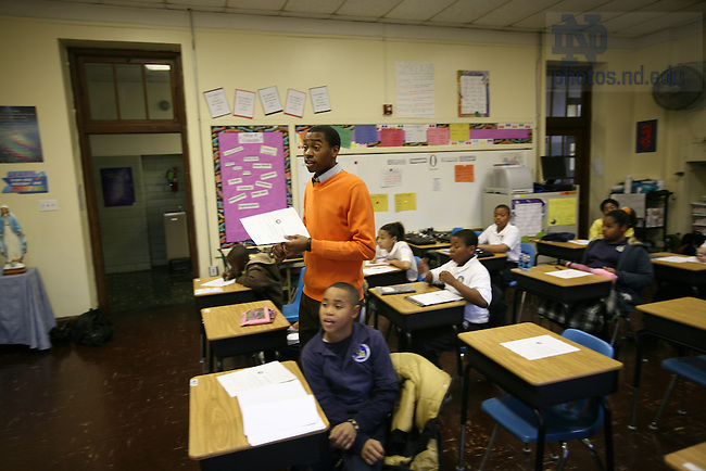 ACE teacher André Smith teaches at Cathedral School in the French Quarter.