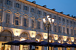 Shops and Restaurants on St Carlo Square, Turin - Torino, Italy