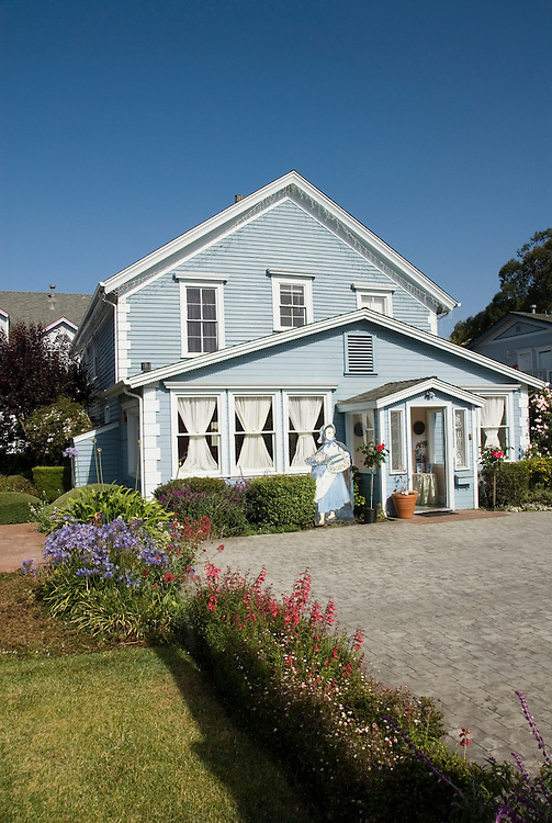 Historic Zaballa House in Half Moon Bay,.San Mateo Coast of California, south of San Francisco.  Photo copyright Lee Foster, 510-549-2202, lee@fostertravel.com, www.fostertravel.com. Photo 455-31006