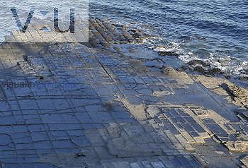 Tessellated pavement, Tasmania, Australia.