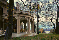 Montgomery Place, Annandale-on-Hudson, New York, Mansion fall,covered terrace