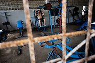 A young Cuban man trains at a bodybuilding gym in Alamar, a public housing complex in the Eastern Havana, Cuba, 9 February 2011.