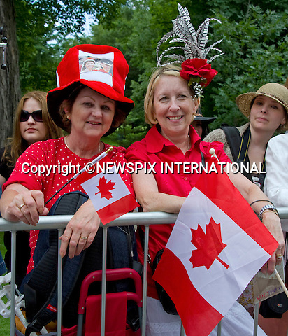 """WILLIAM & KATE OFFICIAL WELCOME AND NCR CEREMONY_Royal Fans.Rideau Hall, Government House, Ottawa_30/06/2011.Mandatory Credit Photo: ©NEWSPIX INTERNATIONAL..**ALL FEES PAYABLE TO: """"NEWSPIX INTERNATIONAL""""**..IMMEDIATE CONFIRMATION OF USAGE REQUIRED:.Newspix International, 31 Chinnery Hill, Bishop's Stortford, ENGLAND CM23 3PS.Tel:+441279 324672  ; Fax: +441279656877.Mobile:  07775681153.e-mail: info@newspixinternational.co.uk"""