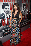 Actress Carla Quevedo Wearing a La Belle Rebelle top and Alice + Olivia Baroque-Print High-Waist Pants Attends HBO Presents Show Me A Hero Premiere  Held at The New York Times Center