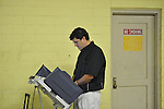 Gregg Thompson votes at the old National Guard Armory in Oxford, Miss. on Tuesday, November 8, 2011. Mississippians go to the polls today for state and local elections, as well as referendums including the so-called Personhood Amendment.