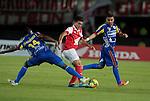 BOGOTÁ – COLOMBIANO _ 01-04-2014 / En juego correspondiente a la fecha 14 del Torneo Apertura colombiano 2014, Independiente Santa Fe venció 3 – 2 a Deportivo Pasto en el estadio Nemesio Camacho El Campín de Bogotá. /