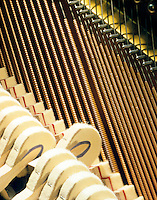 VIBRATING PIANO STRING<br /> Hammer Has Struck Note &amp; String Vibrates