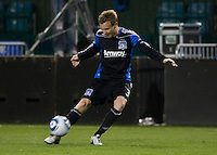 Chris Leitch of Earthquakes in action during the game against the Sounders at Buck Shaw Stadium in Santa Clara, California on April 2nd, 2011.   San Jose Earthquakes and Seattle Sounders are tied 2-2.