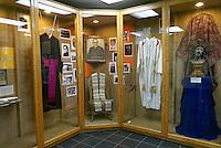 Display of Archbishop Oscar Romero's vestments and historical photos in the Centro Monsegnor Romero at the Universidad Centroamericana or UCA in San Salvador, El Salvador