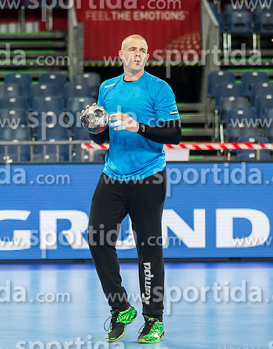 Matej Gaber of Slovenia during practice session of Team Slovenia on Day 1 of Men's EHF EURO 2016, on January 15, 2016 in Centennial Hall, Wroclaw, Poland. Photo by Vid Ponikvar / Sportida