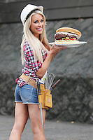NO REPRO FEE. 9/11/2011. Model Tiffany Stanley builds her own Birthday Burger asThe Countercelebrates one year in Suffolk Street, Dublin. For a full menu, visitwww.thecounterburger.com and for more info contact Ciara Holmes m: + 353 86 850 4510 e:ciara@lynfort.ie Picture James Horan/Collins Photos