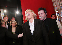 28 April 2006: Ellen DeGeneres with her producer in the exclusive behind the scenes photos of celebrity television stars in the STAR greenroom at the 33rd Annual Daytime Emmy Awards at the Kodak Theatre at Hollywood and Highland, CA. Contact photographer for usage availability.