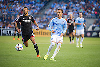 BRONX, NY - Thursday, August 13, 2015: New York City FC defeats DC United 3-1 at home at Yankee Stadium during the 2015 MLS regular season.