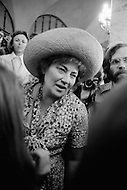 July 1972, Miami, Florida, USA. Bella Abzug at the 1972 Miami Democratic National Convention. As a U.S. Congresswoman she demonstrated her convictions as an anti-war activist and as a fighter for social and economic justice. During the McCarthy era Abzug was one of the few attorneys willing to fight against the House of Un-American Activities Committee. In the 1960s, she helped found the nationwide Women Strike For Peace (WSP), in response to U.S. and Soviet nuclear testing, and became an important voice against the Vietnam War. Image by © JP Laffont