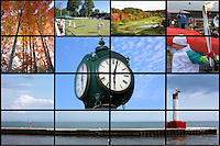 A collage of the town of Oakville in Ontario