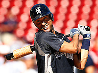 Derek Jeter #2 of the New York Yankees takes batting practice prior to his final game of his career against the Boston Red Sox at Fenway Park on September 27, 2014 in Boston, Massachusetts. (Photo by Jared Wickerham for the New York Daily News)