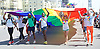 The 25th Anniversary of Brighton Pride on the seafront in Brighton, East Sussex, Great Britain <br />
