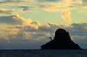 "Mokoli'i Island (""Chinaman's Hat""), Windward Oahu coast, Hawaii."