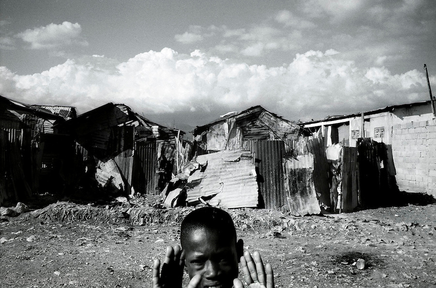 a general view of cite soleil, one of the many slums in the city of port au prince and a stronghold of pro-aristide supporters and activists<br />