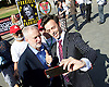 Orgreave campaigners hold Westminster rally before Home Secretary meeting<br /> 13th September 2016, Labour leader Jeremy Corbyn, Shadow Home Secretary Andy Burnham and other MPs join the Orgreave Truth and Justice Campaign <br /> Westminster, London, Great Britain <br /> <br /> Jeremy Corbyn poses for a selfie with a Tory boy <br />  <br /> <br /> followed by an open meeting of campaigners and politicians ahead of a private meeting with Home Secretary Amber Rudd on the campaign&rsquo;s call for a public inquiry. Hillsborough campaigner Margaret Aspinall <br /> speaks at meeting  <br /> <br /> <br /> <br /> Photograph by Elliott Franks <br /> Image licensed to Elliott Franks Photography Services