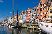 Nyhavn or New Harbor canal in Copenhagen, Denmark.