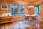 Architectural photo of cabin interior for commercial use