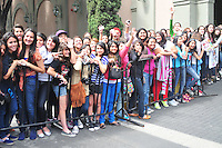 One Direction mobbed by fans during their exit at the Four Seasons Hotel in Mexico City. June 6, 2012. Credit: PhotoADF/NortePhoto/MediaPunch Inc. ***FOR USA ONLY***