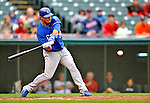 13 September 2008: Kansas City Royals' infielder Mike Aviles at bat during a game against the Cleveland Indians at Progressive Field in Cleveland, Ohio. The Royals defeated the Indians 8-3 in the first game of their rain delayed double-header...Mandatory Photo Credit: Ed Wolfstein Photo