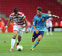 USA U20's Mario Rodriguez (L) and Spain U20's Ruben (R) during their FIFA U-20 World Cup Turkey 2013 Group Stage Group A soccer match USA U20 betwen Spain at the Kadir Has stadium in Kayseri on June 21, 2013. Photo by Aykut Akici/isiphotos.com