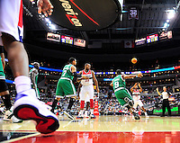 The Wizards' inbound the ball. Boston defeated Washington 89-86 at the Verizon Center in Washington, D.C. on Saturday, November 3, 2012.  Alan P. Santos/DC Sports Box