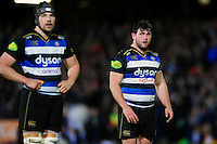 Nathan Catt of Bath Rugby looks on during a break in play. Aviva Premiership match, between Bath Rugby and Newcastle Falcons on March 18, 2016 at the Recreation Ground in Bath, England. Photo by: Patrick Khachfe / Onside Images