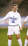 Duke's Lauren Tippets on Wednesday, November 2nd, 2005 at SAS Stadium in Cary, North Carolina. The Duke University Blue Devils defeated the Boston College Eagles 2-0 during their Atlantic Coast Conference Tournament Quarterfinal game.