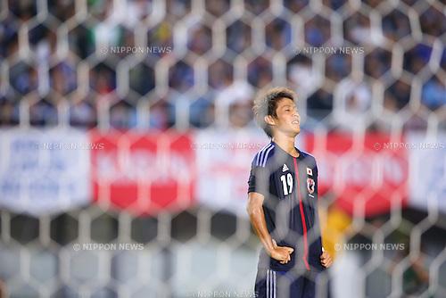 Yoichiro Kakitani (JPN), AUGUST 14, 2013 - Football / Soccer : <br /> KIRIN Challenge Cup 2013 match <br /> between Japan 2-4 Uruguay <br /> at Miyagi Stadium, Miyagi, Japan.<br />  (Photo by AFLO SPORT)