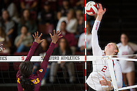 STANFORD, CA - October 15, 2016: Kathryn Plummer at Maples Pavilion. The Cardinal defeated the Arizona State Sun Devils 3-1.